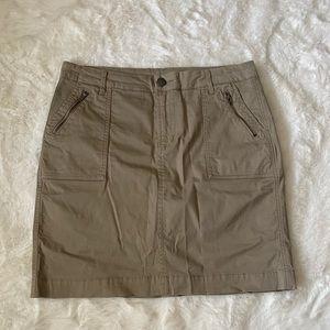 Denver Hayes Khaki Short Skirt w Built in Shorts